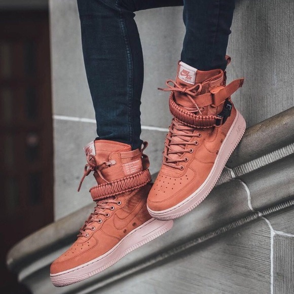 35d5c5d7 Nike Shoes | Air Force 1 Special Force Peach High Top Nwt | Poshmark